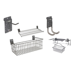 Hooks, Baskets and Accessories for storeWALL, HandiWALL and Slatwall organization systems