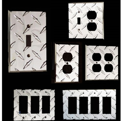 Diamond Plate Light Switch & Outlet Covers