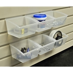 Small Parts Storage - (6pcs set) Reach-In Bin Standard for Slatwall
