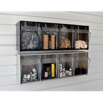 4 Bin - Tip Out Bins -Small Parts Storage for Slatwall