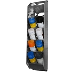 12 can - Aluminum Vertical Aerosol Spray Can Organizer Rack