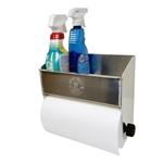 Aluminum Cleanup Shelf and Paper Towel Dispenser