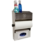 Aluminum Cleanup Shelf - Paper Towel - Glove Dispenser