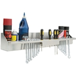 Aluminum Hand Tool Storage & Aerosol Can Shelf and Organizer