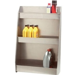 Aluminum Shop Garage Can Bottle Triple Storage Shelf