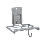 6 in. Shelf w/ Cord Holder for storeWALL Slatwall  Storage