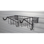 Bicycle Wall Storage Basket and Hook for Slatwall Wall Storage