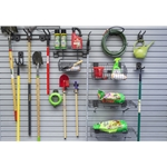 Garden Center Tool Hook & Shelf 13 pcs Kit for Slatwall Organization