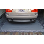 The Park Smart Clean Park Mat catches every drop of mud, slush and grime that falls off of your vehicle