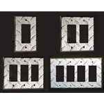 Diamond Plate Decora - GFCI Switch - Outlet Cover - Wall Plate