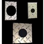 Diamond Plate 220v Outlet Wall Plate Covers