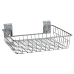 Square Shallow Wire Basket for storeWALL Slatwall Storage