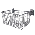 Big Heavy Duty Deep Wire Basket for Slatwall