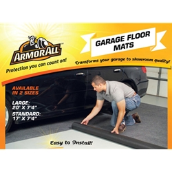 This Armor All Garage Floor Mat absorbs up to 5X its weight in liquids and catches drips and spills such as; dirt, snow, rain, mud, etc.  Helps reduce tracking dirt and grime into your home.