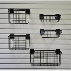 Hold It Storage Shelf and Basket 5 pcs Kit for Slatwall Organization