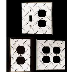Diamond Plate Duplex Outlet Wall Plate - Cover