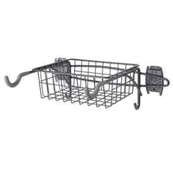 Wall Mount Bike Rack and Basket for Slatwall Wall Organizers