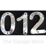4in. Diamond Plate Aluminum Numbers