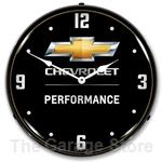 Chevy Bowtie Performance LED Backlit Clock