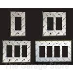 Diamond Plate Aluminum Light Switch and Outlet Cover Wall Plates - Toggle Switch