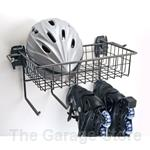 Skate Rack and Basket Sports Organizer for Slatwall Wall Organizers