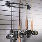 The Fish Hook Fishing Pole Storage Rack for Slatwall Wall Organizers