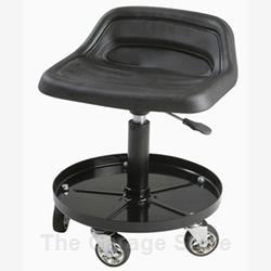 Tractor Seat Rolling Stool - Mechanic Seat - Shop Stool