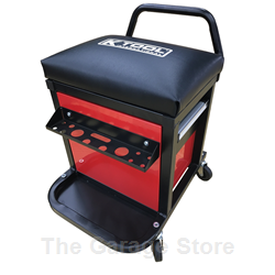 Rolling Mechanic Creeper Stool and Tool Storage