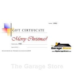 Gift Certificate from The Garage Store