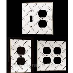 Diamond Plate Aluminum Light Switch and Outlet Cover Wall Plates - Toggle Switch - GFCI Decora